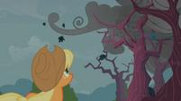 Applejack looking at dark clouds S2E12