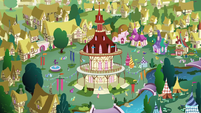 Bird's-eye view of Ponyville S8E18