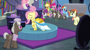 Fluttershy modeling on a boutique platform S8E4