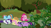 Mane Six knocked to the ground S9E2