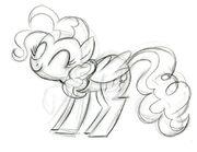 Pierwotny szkic Pinkie Pie autorstwa Lauren Faust