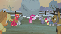 "Pinkie Pie ""it's tradition to raise a flag"" S5E20"