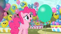 Pinkie Pie talking to balloon Discord S2E01