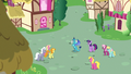 Ponies gathering around Princess Ember S7E15.png