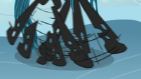 Queen Chrysalis slipping on the ice S9E8