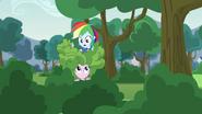 Rainbow Dash on top of Pinkie Pie EG3