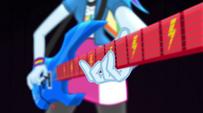 Rainbow Dash playing guitar at an angle EG2