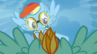 Rainbow Dash trying to get around Lightning S3E7