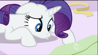 Rarity tells Twilight that she searched low S2E03