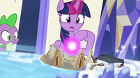 "Twilight ""pulled the Pony of Shadows inside"" S7E25"