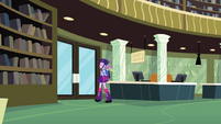Twilight and Spike about to exit the library EG