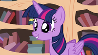 Twilight eager to hear Maud's poem S4E18