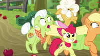AJ and Apple Bloom dash past grannies S9E10