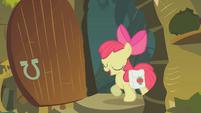 Apple Bloom enters Zecora's hut S1E09