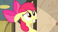 Apple Bloom with her teeth clenched S4E17