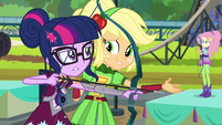 "Applejack ""stop aiming at the target"" EG3"