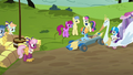 Derby racers start to assemble at starting line S6E14.png