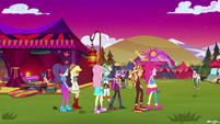 Equestria Girls at the festival at sunset EGSBP