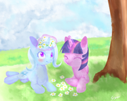 FANMADE Twilight and Trixie by aosion