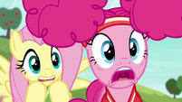 Fluttershy and Pinkie worried about Snails S6E18