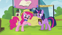 "Pinkie Pie ""told you I'd take care of everything"" S4E22"