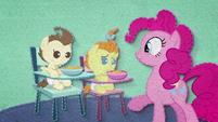 Pinkie Pie feeding Pound and Pumpkin BFHHS2