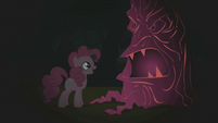 Pinkie Pie laughing at first tree S1E02