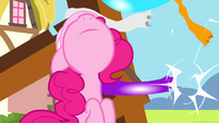 Pinkie Pie watches building framework collapses S4E12