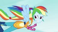 Rainbow flying away from vine monster EG3
