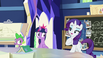 "Rarity ""because my plan is"" S9E4"