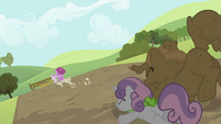Rarity and Sweetie Belle on the ground S2E05