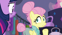 Snooty Fluttershy feigning surprise S8E4