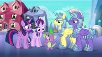 Spike vouches for Twilight and Starlight S6E16