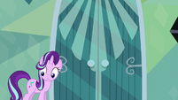 Starlight looking uncertain at Spike S6E1