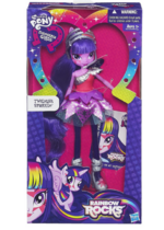 Twilight Sparkle Equestria Girls Rainbow Rocks doll package