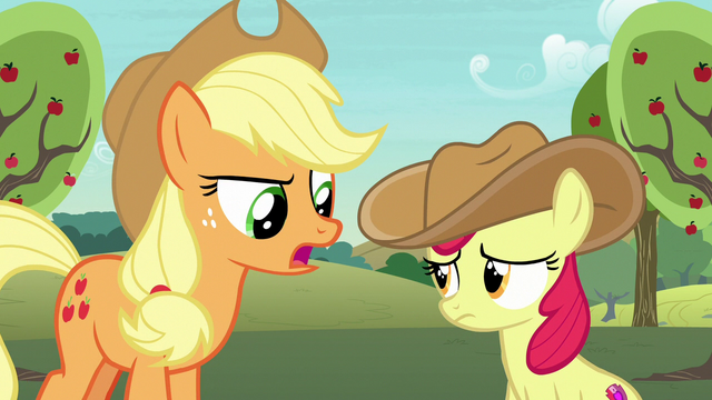 """File:Applejack """"you don't need a fancy scarf"""" S7E9.png"""