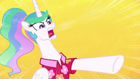 "Celestia bellows ""calm down, Luna!"" S9E13"
