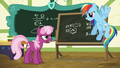 Cheerilee looking annoyed at Rainbow Dash S6E15.png