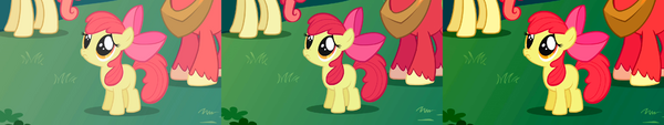 """FANMADE Apple Bloom """"Aren't you going to stay for brunch"""" S1E01 version comparison"""
