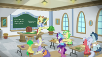 Flam jumping with excitement S8E16