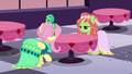 Fluttershy and Tree Hugger amused S5E7.png