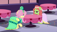 Fluttershy and Tree Hugger amused S5E7