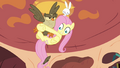 Fluttershy clings to Owlowiscious S03E11.png
