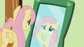 Fluttershy in front of a mirror S01E22.png