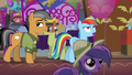 Quibble follows and mocks Rainbow S6E13.png