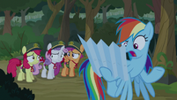 "Rainbow Dash ""I can't read this thing"" S9E13"