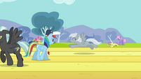 Rainbow Dash watching over training S2E22