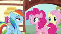 Rainbow reveals to Pinkie --Zephyr Breeze-- S6E11