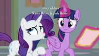 Rarity scoffing audibly S8E16