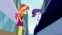 Rarity talking to Sunset from the limo CYOE5a